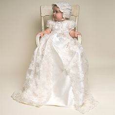 Inspiration for christening gown that MIL is making for mischa's baptism.
