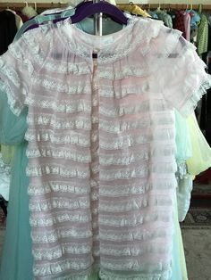 60s Peignoir & Babydoll Vintage Small and Short Pink Chiffon