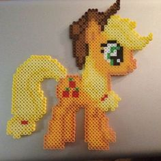 MLP Apple Jack perler beads by imbpixel