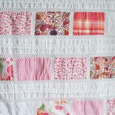 Vintage Summer Patchwork Pink - Fabric - Style Maker Fabrics Pink Fabric, Vintage Inspired, Fabrics, Quilts, Blanket, Sewing, Summer, Cotton, Inspiration