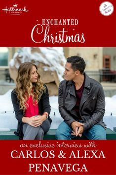 An exclusive interview with Hallmark Channel Christmas movie stars Carlos and Alexa Penavega Hallmark Christmas Movies, Hallmark Movies, Holiday Movies, Holiday Time, Cute Celebrity Guys, Cute Celebrities, Christian Movies, Chick Flicks, Romance Movies