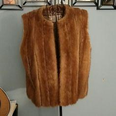 Mink fur vest (real fur) Mink vest. Fits like a medium. Some wear under the arms. Super warm. Hook and eye closures. Jackets & Coats Vests
