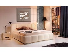Product Dimensions: Height: 103 cm Width: 170 cm Length: Available dimensions: Width: 190 cm Width: Bed without mattress Material - faux leather Material - fabric Wide selection of fabrics, leather and colours Bed Without Mattress, King Size Bed Frame, Lit Simple, Beds For Sale, Black Bedding, House Doctor, Bedroom Bed, Double Beds, King Beds