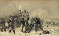 Sur la rive gauche, les troupes de Victor, combattent, toute l'armée de Wittgenstein -