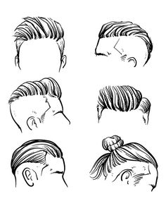 80% Off Sale Vector fashion set of hipster man hair style. Hand drawn vector illustration. hipster with clipping path. (EPS, JPG)