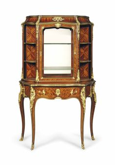 A FRENCH ORMOLU-MOUNTED KINGWOOD, BOIS SATINE AND MARQUETRY VITRINE-ON-STAND -  BY GERVAIS-MAXIMILIEN-EUGENE DURAND, PARIS, LATE 19TH CENTURY