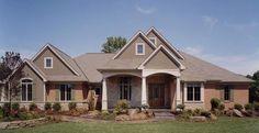 Plan #17432: 3 bedroom, 2.5 bath house plan with 3-car garage. Contemporary house style, 1 story | HousePlansPlus.com #houseplans