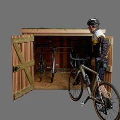 Slot-in Bike Shed - Brighton Bike Sheds Bike Storage In Shed, Bicycle Storage Shed, Outdoor Bike Storage, Scooter Storage, Bike Storage Solutions, Bike Shed, Garage Shed, Shed Roof, Dream Garage