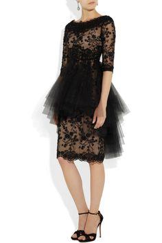 Marchesa|Embellished tulle dress|NET-A-PORTER.COM