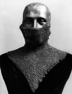 European (German) riveted mail collar and face defense, 15th century, Gift of Prince Albrecht Radziwill, 1927, Met Museum.