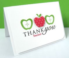 Stamping & Sharing: Thank You Teacher Papertrey Ink Teacher's Apple