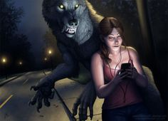 Werewolf Calendar 2014 -October by sarahfinnigan.deviantart.com on @deviantART