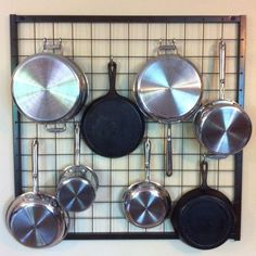 grid wall kitchen rack - Google Search                                                                                                                                                                                 More