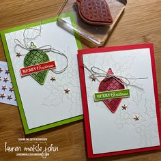 CASE a Holiday Catty Punch Project – Lauren Meiklejohn Create Christmas Cards, Christmas Cards 2018, Christmas Crafts To Make, Stampin Up Christmas, Christmas Makes, Christmas Settings, Christmas Greeting Cards, Holiday Cards, Christmas 2019