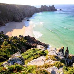 Pedn Vounder, Penwith, Cornwall a dramatic bay protected by the towering granite…