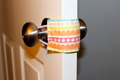 This shop created the cutest and smartest thing ever! Door jammer to quietly go in and out of rooms. Never have your kid wake up from another nap again when you check on them!