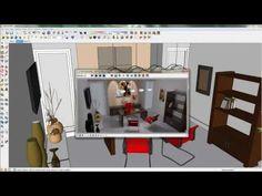Curso EaD SketchUP+Vray - Aula : Iluminação - SPOT LIGHT - YouTube
