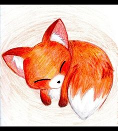 Baby Fox - Fox Fan Art (24592678) - Fanpop