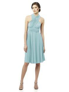Canal Blue Wrap Dress