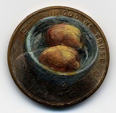 Oil-Paintings-on-Pennies by Jacqueline Lou Skaggs