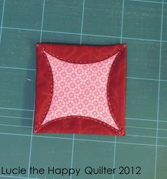 Japanese folded patchwork block tutorial from Quilts for Comfort Northeast Quilting Tips, Quilting Tutorials, Hand Quilting, Quilting Projects, Patchwork Patterns, Quilt Block Patterns, Quilt Blocks, Patchwork Quilting, Cathedral Window Quilts