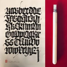 "2,639 Likes, 23 Comments - Luca Barcellona (@lucabarcellona) on Instagram: ""Daily practice. #blackletter #lucabarcellona"""