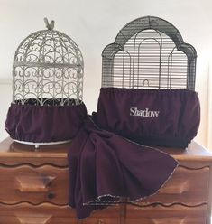 Hand Crafted Eggplant Fabric Bird Cage Skirt Seed Catcher Guard or Cover XS-XXL #parrotcagecover #parrotcagediy #parrotcageideas