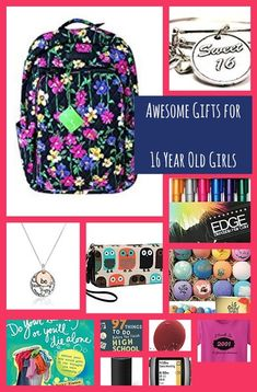 Tons of really good gift ideas for 16 year old girls. Things she will actually like or find useful.