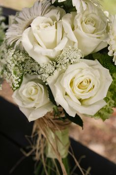 My bridal bouquet. green and white.