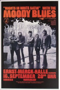 Moody Blues 'Nights in White Satin' German Concert Poster.