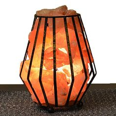 Recalled Salt Lamps Unique Himalayan Salt Lamp Wooden Fire Basket ~ Crystal Ionic Rock  Salt Design Decoration