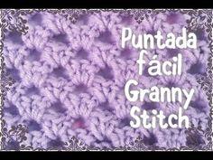 Puntada Granny en gancho para manta de bebe #24 - YouTube
