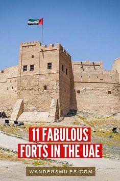 Explore 11 fabulous forts in the UAE | Visit Dubai | Fujairah Fort | Oldest fort in UAE | Dhayah Fort Ras al Khaimah | Al Hisn Fort Sharjah | Dubai Itinerary | Places to visit in UAE Dubai Travel, Asia Travel, Eastern Travel, Middle East Destinations, Travel Destinations, Amazing Destinations, Travel Guides, Travel Tips, Travel Advice