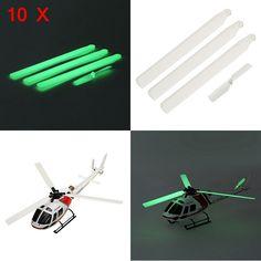 10X WLtoys V931 XK K123 RC Helicopter Noctilucent Blade Set