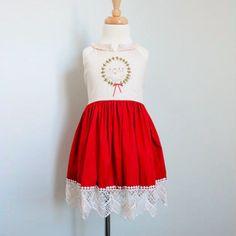 "Pre-order: The ""Mia"" Holiday Joy Lace Cotton Dress"