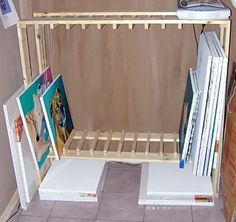 Stretched canvas storage | ART STUDIO | Pinterest | Storage Racks ...