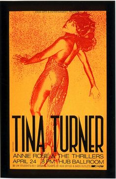 Tina Turner concert poster by Art Chantry for ASUW, 1981