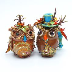 Owl cake of the day..gypsy owl cake toppers!