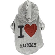 NEW! Stellar Pet Boutique I Love My Mommy Hoodie-Medium - TPS Shopping Site