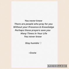 Stay humble ♡
