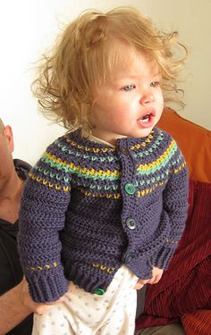 Fairly Isleish Fair Isle Style Cardigan Sweater for Boys and Girls