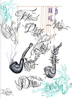Tattoo Lettering.