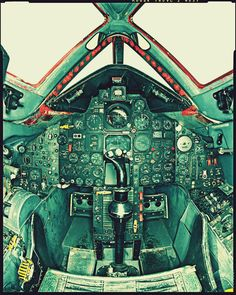 Lockheed SR-71 Blackbird Cockpit... 1960's design, still the fastest air-breathing manned aircraft in the world, and still the most wicked.