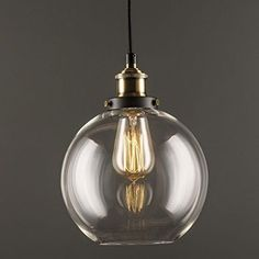 Modern Primo Pendant 1 Light Fixture Glass Shade Exposed Industrial Factory Lamp #LineadiLiara