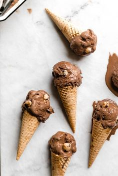 Double Dark Chocolate Cookie Dough Ice Cream