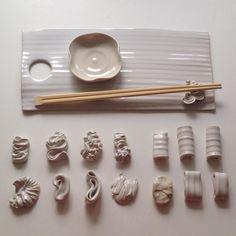 My sushi set. #ilovejapanesefood #handmadedesign #heidiaulikkipuumalainen #madeinfinland #ilovepottery