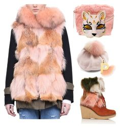 """""""Pink Fox"""" by yours-styling-best-friend ❤ liked on Polyvore featuring Forte Couture, Mr & Mrs Italy, Furla, Miu Miu, Fendi and Maison Kitsuné"""
