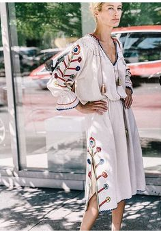 Carolyn Murphy wearing Ulla Johnson's Natalia dress