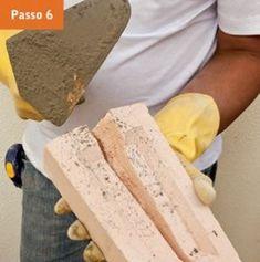 CONSTRUTORA SOUSA: Churrasqueira de tijolos, em 22 passos. Barbecue, Feta, Cheese, Masonry Bbq, Bricks, Cookers, Ovens, Creative Crafts, Creativity