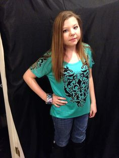 Cowgirl bling top available in plus size